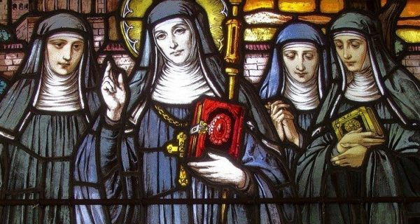25 Fevereiro Santa Valburga Virgem e Abadessa vitral 7194597